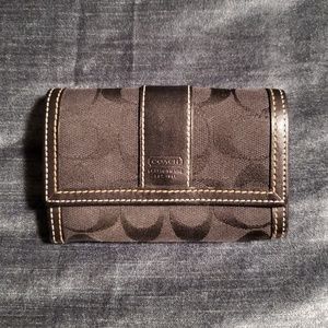 Small Coach Wallet - Black